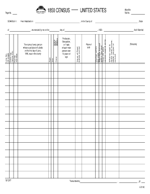 Fillable 1850 Census Form - Fill Online, Printable, Fillable ...