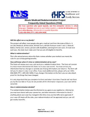 Fill Out Medicaid Redetermination Online - Fill Online, Printable ...