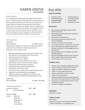 sales assistant resume examples interview winning sales assistant resume that is sure to get you - Sales Assistant Resume Template