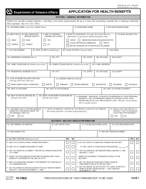 2015-2017 Form VA 10-10EZ Fill Online, Printable, Fillable, Blank ...