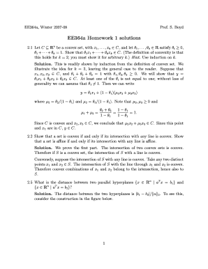 ee364a homework 1 solutions