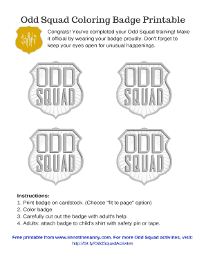 Divine image throughout odd squad badge printable