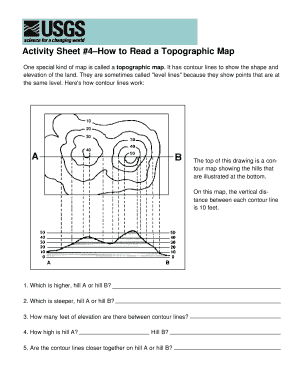 Fillable Online Egsc Usgs Activity Sheet How To Read A - Usgs topographic maps online