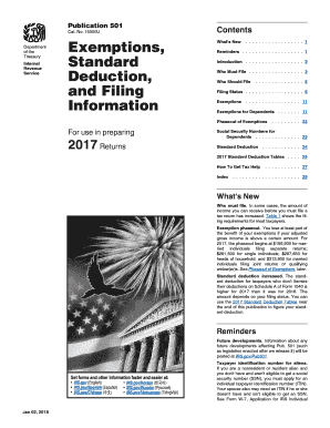 101118999 P501pdf 2016 Publication 501 Exemptions Standard Deduction And Filing Information