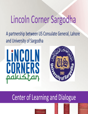 Fillable Online Lincoln Corner Sargodha Fax Email Print - PDFfiller