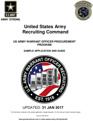 Fillable Online usarec army Warrant Officer Sample Packet - USAREC ...