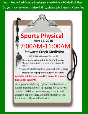sports physical form tn  Fillable Online rutherfordcountytn Sports Physical 11:11AM-11 ...