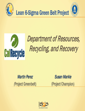 Fillable Online Lean 6-Sigma Green Belt Project Fax Email