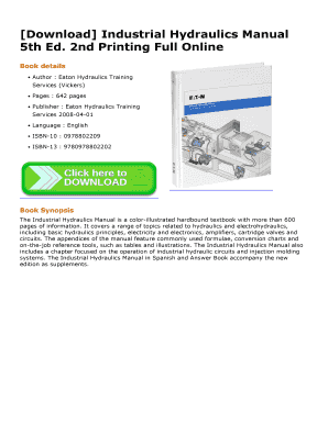 Fillable Online Download Industrial Hydraulics Manual 5th Ed