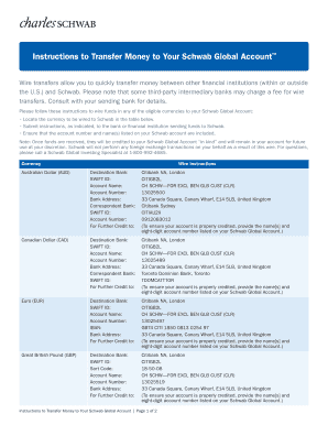 Schwab Wire Instructions | Schwab Wire Transfer Instructions Fill Out Online Download