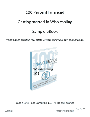 Fillable Online Flipping Bricks Wholesaler Ebook Docx Fax Email Print Pdffiller