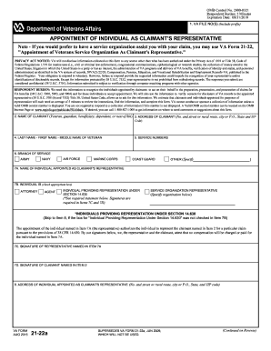 2015-2017 Form VA 21-22a Fill Online, Printable, Fillable, Blank ...