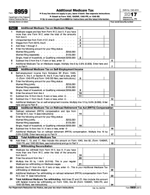 2017 Form IRS 8959 Fill Online, Printable, Fillable, Blank