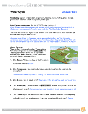 Water Cycle Gizmo Answers - Fill Online, Printable ...