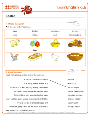 fillable online print a worksheet about easter learn english kids british council fax email. Black Bedroom Furniture Sets. Home Design Ideas