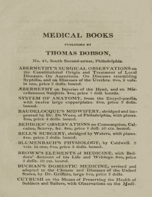 Medical books published by Thomas Dobson