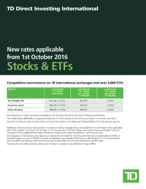 Fillable Online Stocks & ETFs - TD Direct Investing