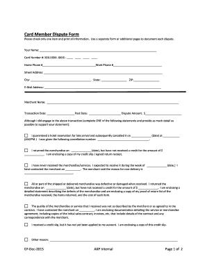 fillable online card member dispute form bluebird fax email print rh pdffiller com Example User Guide Clip Art User Guide