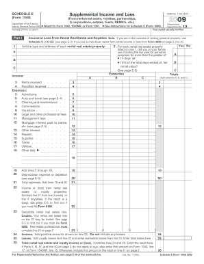 IRS Schedule E (1040 form) | PDFfiller