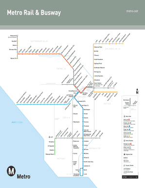 Fillable Online Go Metro Rail System Map - Metro Rail ... on metro north schedule, fc barcelona schedule, metro time schedule, metro bus schedule,