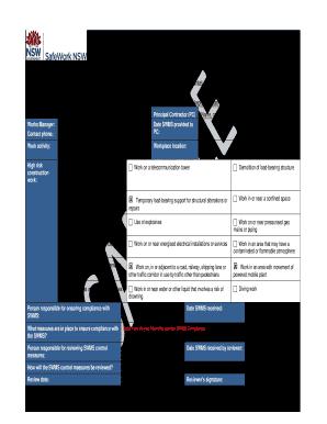 Printable work method statement example free download - Edit