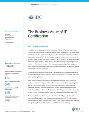 IDC White Paper The Business Value of IT Certification