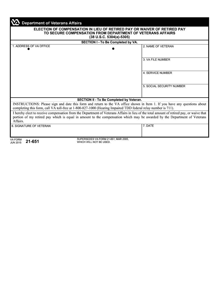 Va Form 21 651 - Fill Online, Printable, Fillable, Blank