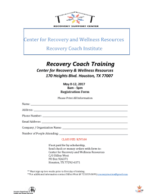 Fillable Online Center For Recovery And Wellness Resources Fax Email