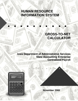 gross-to-net calculator manual - Iowa Publications Online