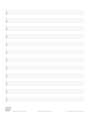 Fillable Online Blank Bass Tab Paper Ds Music Free Blank Bass Tab