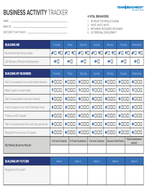 beachbody business activity tracker 2019