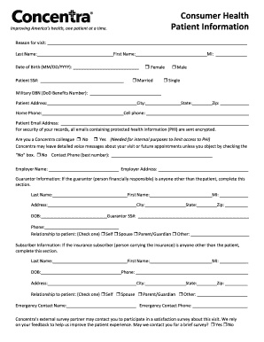 Submit concentra pre employment drug test and physical