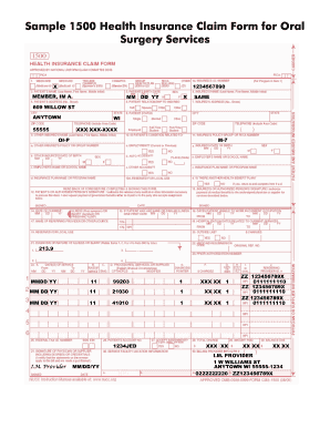 template for health insurance claim form 1500 The Ten