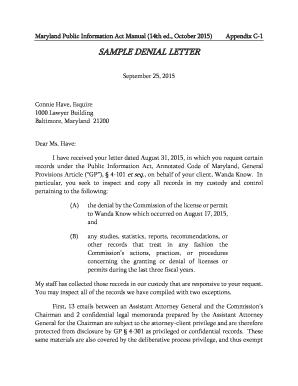 Sample letter of request for building inspection editable fillable sample denial letter spiritdancerdesigns Images
