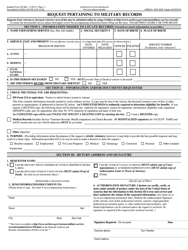 standard form sf 180 2-2 Form NARA SF 2 Fill Online, Printable, Fillable, Blank