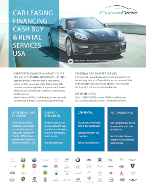 Expat Car Leasing And Financing Companies