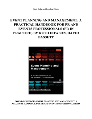 Event Planning Ebook