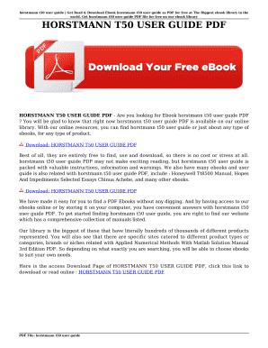 horstmann t50 user guide fill online printable fillable blank rh pdffiller com Vzw Phones User Guide Vzw Phones User Guide