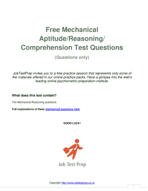fillable online free psychometric test questions fax email print