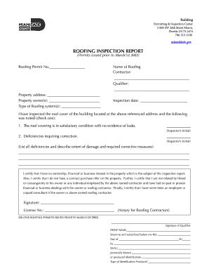 Roofing Inspection Report Template Fill Online