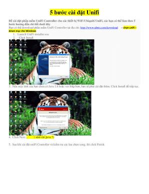 Fillable Online cai dat Unifi full Fax Email Print - PDFfiller