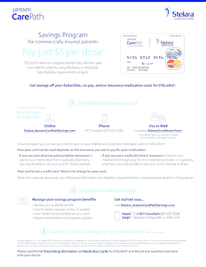 Fillable Online STELARA(R)(ustekinumab) Savings Program Overview