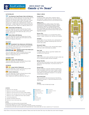 fillable online oasis of the seas oa oasis class ship layout