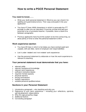 pgce personal statement primary gttr