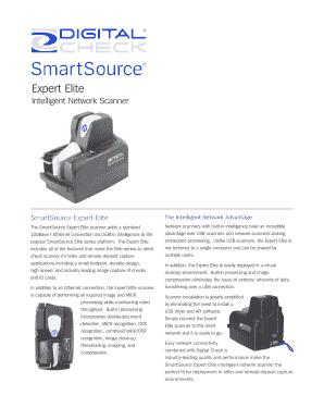 Fillable Online SmartSource Expert Elite - Digital Check Fax