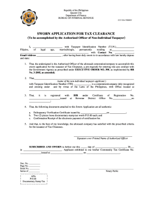 101041617 Tax Clearance Certificate Application Form Bir on sars personal, tn corp, department revenue, jetmaster zimbabwe, pa revenue canada, johannesburg sars, for house lot philippines,
