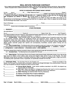 Blank Real Estate Purchase Agreement