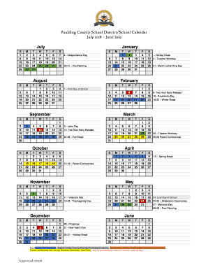 Paulding County School Calendar Fillable Online Paulding County School District/School Calendar