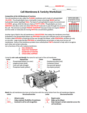 Cell Membrane Diagram Blank.Cell Membrane Tonicity Worksheet Fill Online Printable