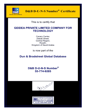 free dun and bradstreet report - Fillable & Printable Top Business